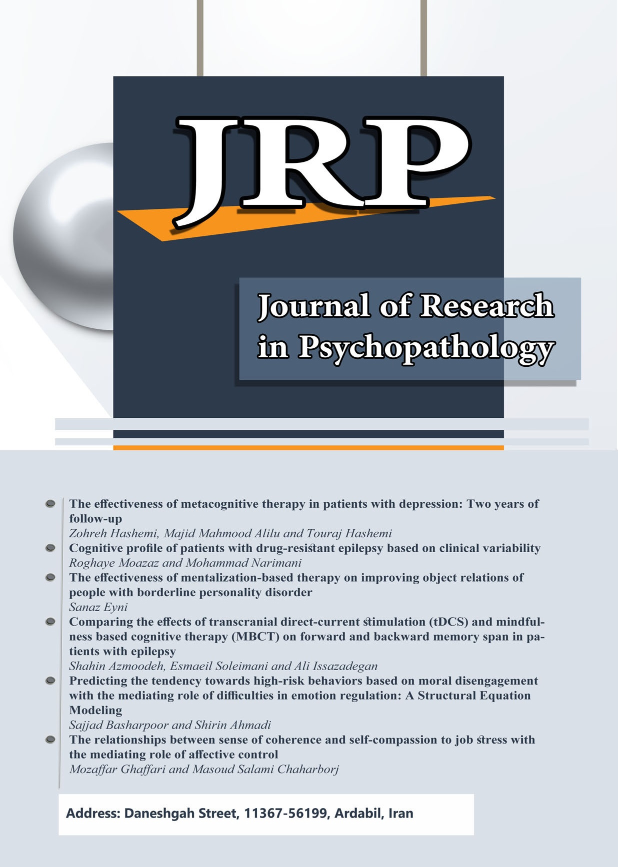 Journal of Research in Psychopathology